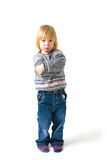 Arrabbiato del bambino infastidetto Fotografia Stock