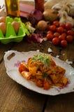 Arrabiata ζυμαρικών με τα τσίλι και σκόρδο οργανικό Στοκ εικόνα με δικαίωμα ελεύθερης χρήσης