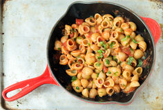 Arrabiata pasta in a pan Stock Image