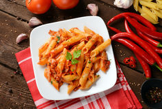 Arrabiata pasta Stock Photos
