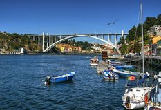 Arrabida bridge of Douro river in Porto stock photo