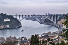 Arrabida bridge in Oporto Royalty Free Stock Image
