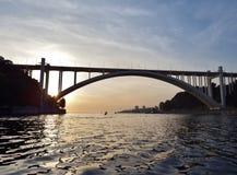 Arrabida Bridge. Over Douro river, in Porto, Portugal Royalty Free Stock Photos