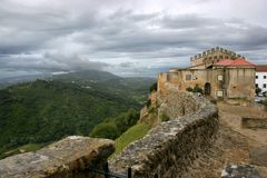 Arrabida castle. View from arrabida castle and wall Royalty Free Stock Photography