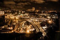 Arrabida most nad Douro rzekÄ… w Porto, Portugalia zdjęcie royalty free