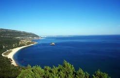 Arrabida National Park and Beach of Portinho Royalty Free Stock Images