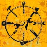 Arrachez à disposition et trousse à outils illustration de vecteur