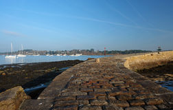 Arradon coast in Brittany Stock Images