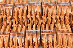 Arraged backgroud Muster der Dachfliese Stockfoto