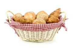 Arragement of bread in basket Stock Photos