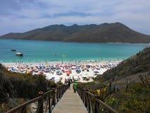 Arraial在里约热内卢夏天做Cabo海滩 库存照片