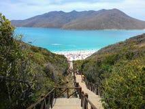 Arraial在里约热内卢夏天做Cabo海滩 免版税库存图片