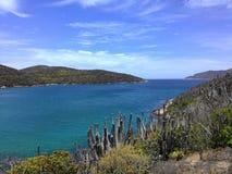 Arraial在里约热内卢夏天做Cabo海滩 库存图片