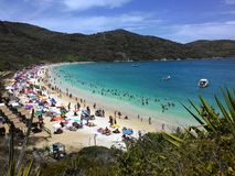 Arraial在里约热内卢夏天做Cabo海滩 免版税库存照片