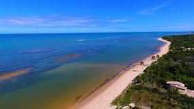 Arraial d 'Ajuda, Bahía, el Brasil: Vista de la playa hermosa imagen de archivo libre de regalías