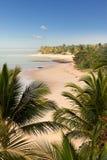 Arraial d'Ajuda海滩在巴伊亚 免版税库存图片