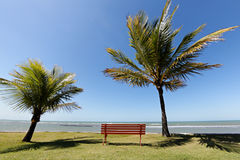 Arraial d'Ajuda Eco Resort in Bahia - Horizon over the water royalty free stock photos