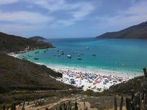 Arraial do Cabo Beach το καλοκαίρι Ρίο ντε Τζανέιρο Στοκ φωτογραφίες με δικαίωμα ελεύθερης χρήσης