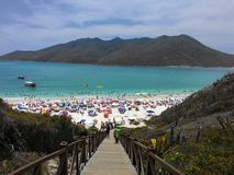 Arraial do Cabo Beach in Rio de Janeiro-de zomer stock foto