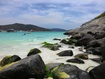 Arraial robi Cabo plaży w Rio De Janeiro lecie Zdjęcia Royalty Free