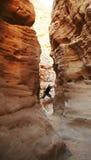 Arrampicandosi nel canyon immagine stock