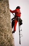 Arrampicandosi sulla grande parete Valea alba Fotografia Stock Libera da Diritti
