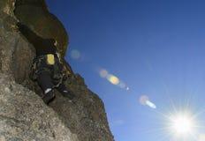 Arrampicata in Bariloche, Patagonia fotografia stock