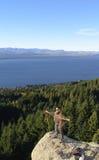Arrampicata in Bariloche, Patagonia fotografia stock libera da diritti