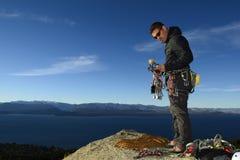 Arrampicata in Bariloche, Patagonia, Argentina immagine stock