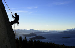 Arrampicata di Patagonia Immagine Stock
