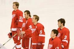 Arrancadores de los Detroit Red Wings Imagenes de archivo