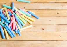 Arrang chalk Royalty Free Stock Photography