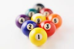 Arrange billiard balls. Close-up photography Royalty Free Stock Photos