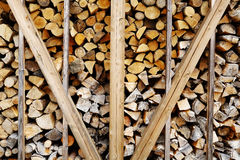 Arrange of Firewood Royalty Free Stock Image