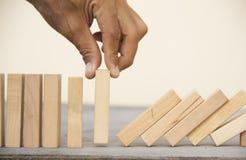 Arrange the wooden block. Conceptual image for arrange the wooden block royalty free stock photos