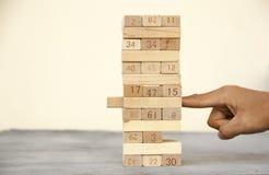 Arrange the wooden block. Conceptual image for arrange the wooden block stock images