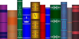 Arranged books Royalty Free Stock Photos