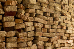 Arranged bricks Royalty Free Stock Photos