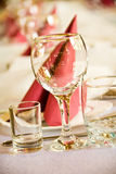 Arranged celebration table Royalty Free Stock Image