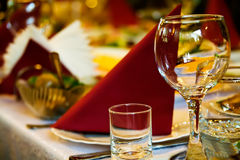 Arranged celebration table Royalty Free Stock Photo