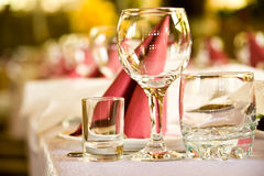 Arranged celebration table Stock Images
