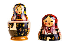 arranged close doll family hand like looking matryoshka nested painted together unique upwards which white wooden Στοκ εικόνες με δικαίωμα ελεύθερης χρήσης