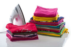 Arranged laundry Stock Photos