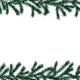 Arranged Green Fir Tree Branches. Arranged Green Fir Tree Branches Greeting Card Christmas Background Royalty Free Stock Photography