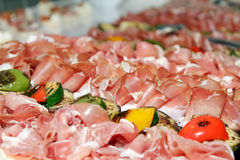 Arranged meat products Stock Photography