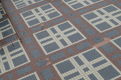 Arranged patterns of floor tile Stock Photography
