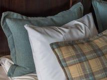 Arranged pillows Stock Photo