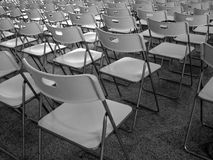Arranged same chairs Stock Image