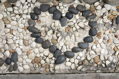 Arranged stone particle as heat Royalty Free Stock Image