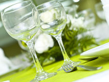 Arranged table Stock Photography